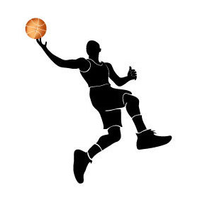 Basketball Player With A Ball - Free vector #219687