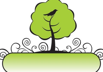 Banner Tree - vector gratuit #219807