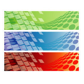 Abstract Banner Set 8 - vector gratuit #219827