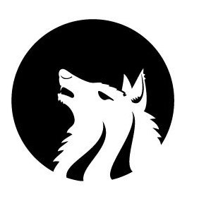Wolf Monochrome Vector - Free vector #219847