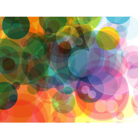 Bubbles In Color Background - vector gratuit #220047