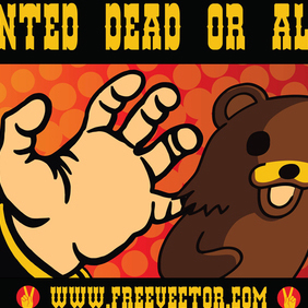 Wanted: Dead Or Alive - Free vector #220107