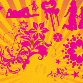 Pink Vector Love - Free vector #220377