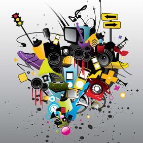 Playful Music Vector Art Elements - vector gratuit #220847