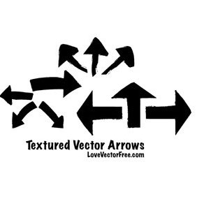 Textured Arrows - Free vector #221127