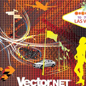 Viva Las Vegas Vector Art - Free vector #221217