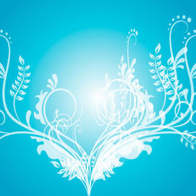 Swirly Blue Vector Graphique - Free vector #221227