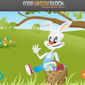 Easter BUNNY - Free vector #221407
