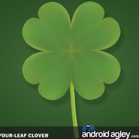 Four-Leaf Clover - vector gratuit #221437