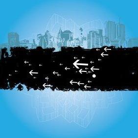 Banner City Vector - vector gratuit #221457