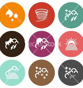 Free natural weather icons vector - Free vector #221647