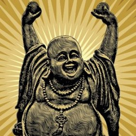 Laughing Buddha - Free vector #221697