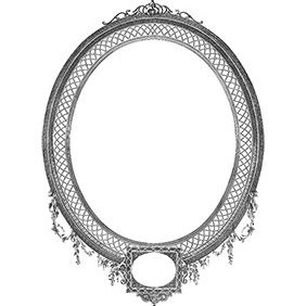 Detailed Decorative Oval Frame - Free vector #221797
