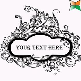 Hand Drawn Floral Text Frame - vector gratuit #221997