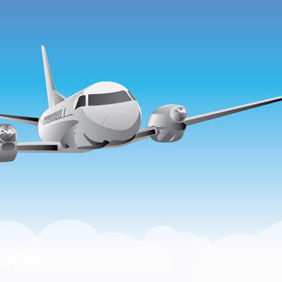 Flying Plane - vector #222067 gratis