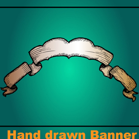 Hand Drawn Banners - Free vector #222097
