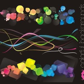 Free Vectors: Colorful Backgrounds - Kostenloses vector #222127