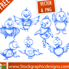 Free Twitter Icons - vector #222187 gratis