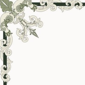Corner Ornament - Italian Style - Free vector #222247