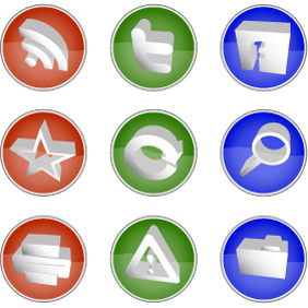 Icon Set - vector #222437 gratis
