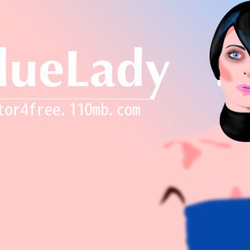 Blue Lady - vector #222517 gratis