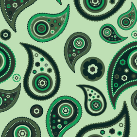 Paisley Seamless Pattern - Free vector #222557