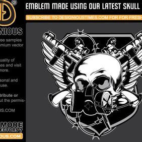Vector Skull Emblem - Free vector #222607