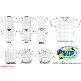 VIP T-Shirt & Hood Templates - vector #222647 gratis