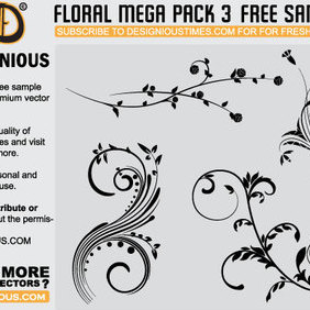 Floral Sample - Free vector #222707
