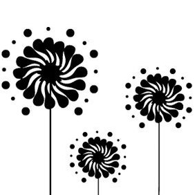 Fun Flowers - vector gratuit #222717