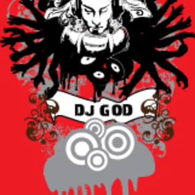 Dj God - Free vector #222747