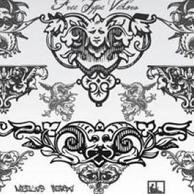 Free Typographic Vintage Ornament Vectors - Free vector #223217