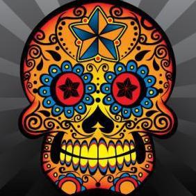 Sugar Skull - Free vector #223267