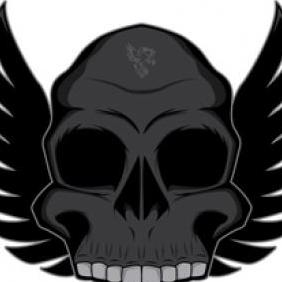 Free Series Winged Skull Vector - vector gratuit #223287