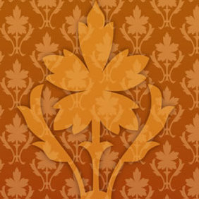 Vector Ornate Wallpaper Pattern - vector gratuit #223647