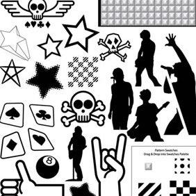 Punk Rock Vector Pack - Free vector #223667