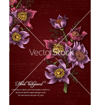 Free floral background vector - Free vector #224277