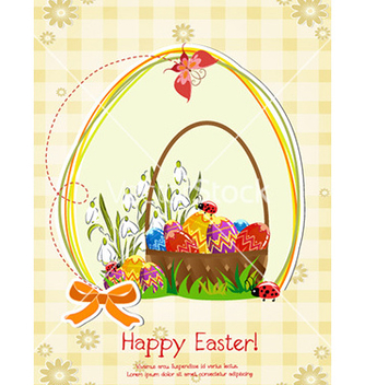 Free basket of eggs vector - vector gratuit #224307
