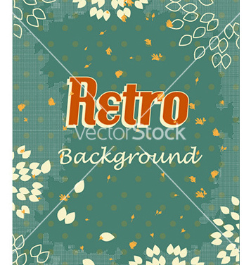 Free retro floral background vector - Free vector #224497
