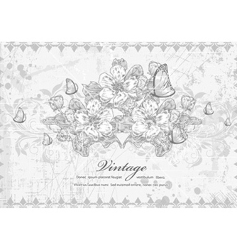 Free vintage floral background vector - Free vector #224617