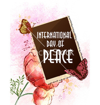 Free international day of peace with photo frame vector - Free vector #224807