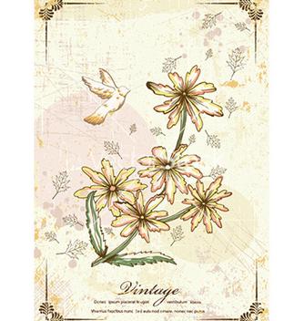 Free vintage floral vector - Free vector #224887