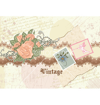 Free vintage floral background vector - Kostenloses vector #225197