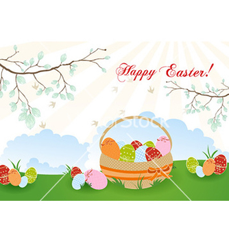 Free basket of eggs vector - бесплатный vector #225457
