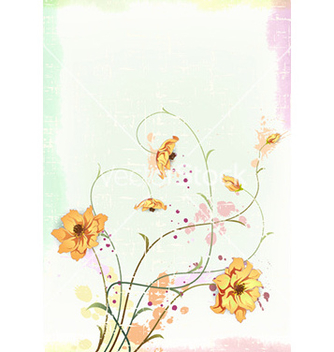 Free watercolor floral background vector - Free vector #226147