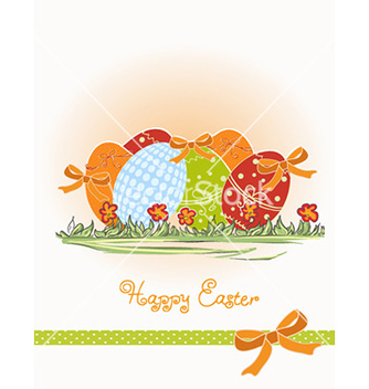 Free eggs with floral vector - Free vector #226197