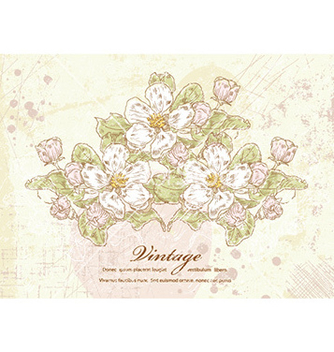 Free vintage floral background vector - Free vector #226817