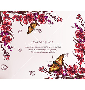 Free floral background vector - Free vector #227387