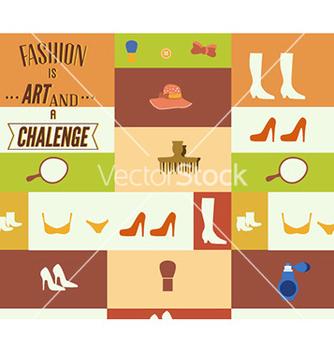 Free with fashion elements vector - Kostenloses vector #227447