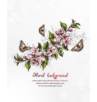 Free floral background vector - Free vector #227607